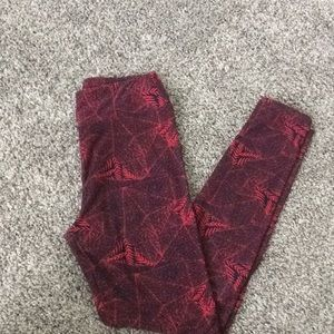 OS Navy and Pink LuLaroe Leggings Like New
